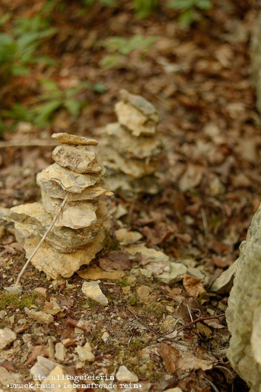 Hochrhöner, Wanderlust, wandern, Tann Rhön, gestapelte Steine, Dermsbach