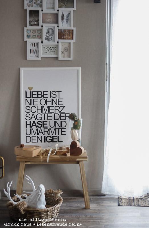 Wochenglückrückblick, Interior, Wohnzimmer, Spruch, Ikea, Hirsch, Livingroom