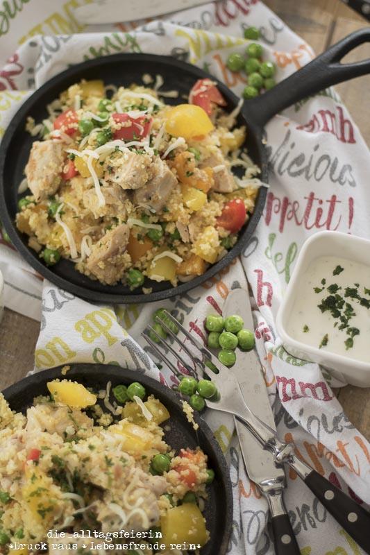 schnelles Mittagessen, Familienküche, Couscous, Couscouspfanne, leckere Couscouspfanne, schnelles Essen, gesundes Kochen, frisch gekocht, Couscousliebe