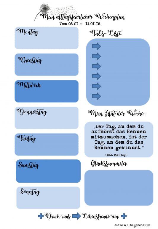 Speiseplan, Freebie Wochenplan, alltagsfeierlicher Wochenplan, Essensplan, Familienküche, Freebie, Vorlage Wochenplan