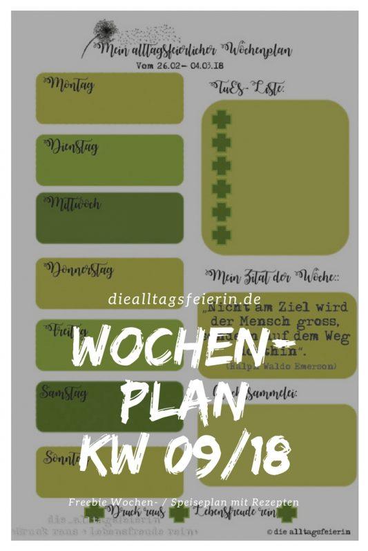 { WOCHENPLAN / FREEBIE } KW 09/18 * Neuigkeiten aus der Familienküche *