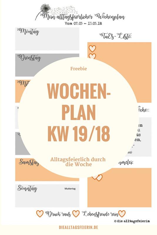 Speiseplan KW19/18 Familienküche aus der Alltagsfeierei
