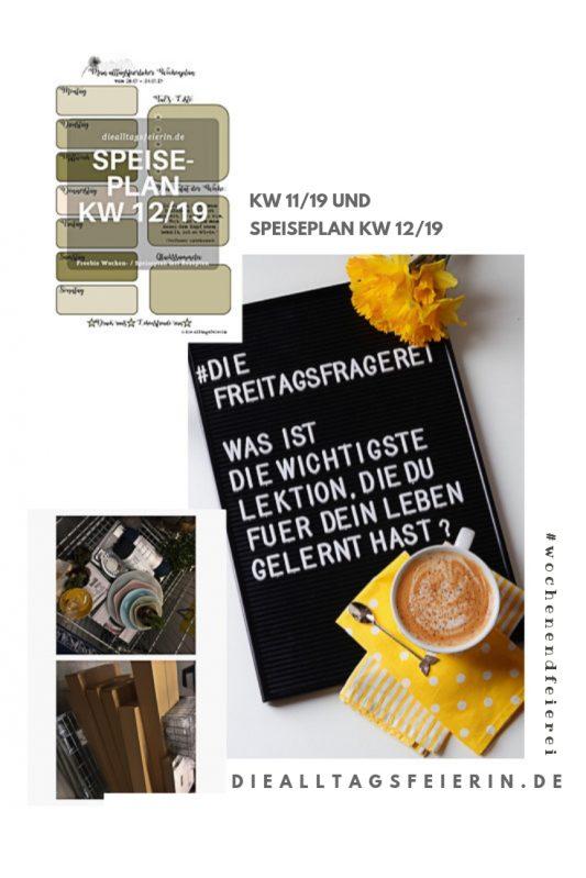 #diefreitagsfragerei, Wochenglückrückblick, Wochenendfeierei, KW11-19, Speiseplan, Wochenplan KW 12-19, Ikea