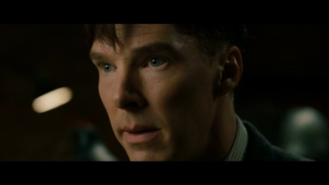 "Alan Turing (Benedict Cumberbatch) in a trailer of ""The Imitation Game"". Screenshot: pb"