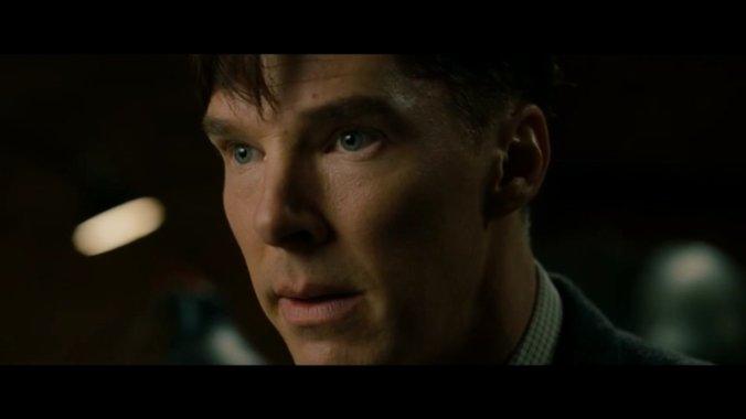 "Alan Turing (Benedict Cumberbatch) in a trailer of ""The Imitation Game"". Screenshot: pb"