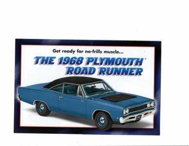 DM 68 PLYMOUTH ROAD RUNNER #1