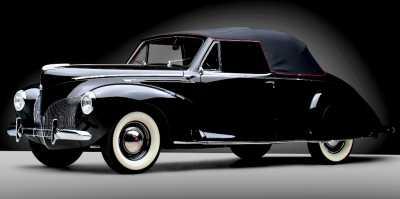 40 Lincoln Zephyr Cabriolet   Restored
