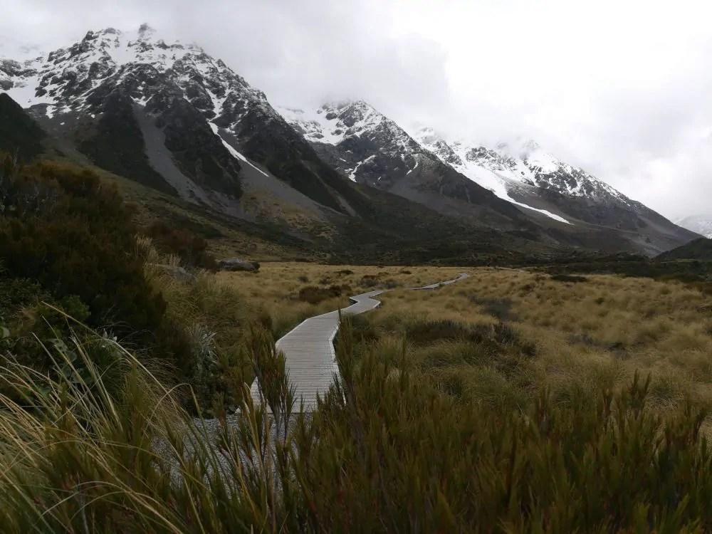 Hooker Valley Track in Neuseeland