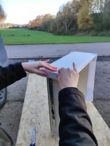Wir bekleben unsere Schubladen 2