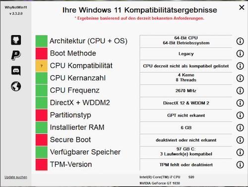 Windows 11 Kompatibilitätstest