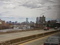 Die ersten Blicke auf die Skyline von Boston