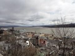 Blick auf die Unterstadt und den St. Lorenz Strom