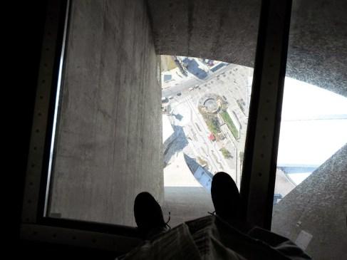 Der Glasboden im CN-TOWER