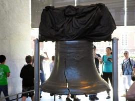Die Liberty Bell, ich hatte sie mir größer vorgestellt