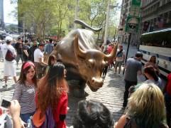 Der Bulle ist schwierig zu fotografieren, zu viele Touristen