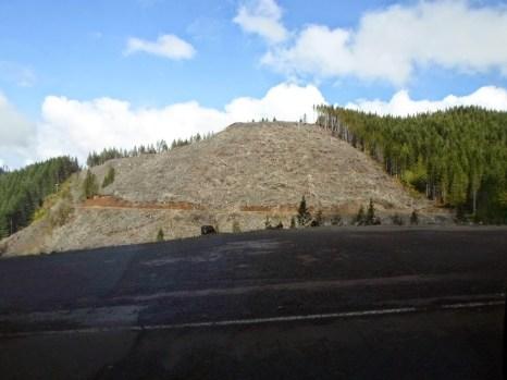 Auf dem Weg hoch zu Mary's Peak