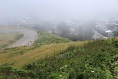 Nebel auf Twin Peaks, hier gerade etwas weniger