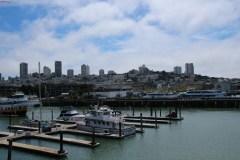 Blick von Pier 43 auf die Stadt