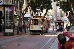 Warten auf das Cable Car an der Market Street
