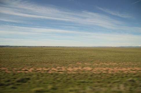 Flaches Land nach Yellowstone