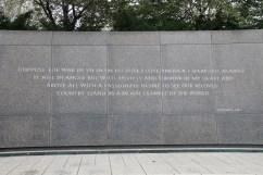 Zitate von Martin Luther King Jr. an seinem Memorial