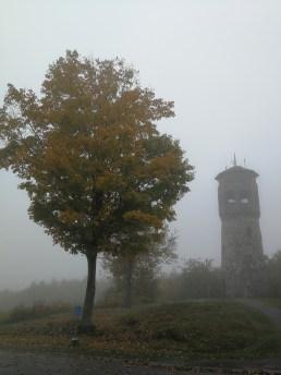 Vom Turm hat man bei gutem Wetter sicher eine tolle Sicht, aber nicht heute