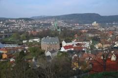 Blick auf Trondheim von der Festung