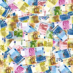 Geld Euro Money Bargeld Geldflut Wirtschaft