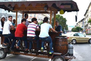 Beer truck in Oktogon