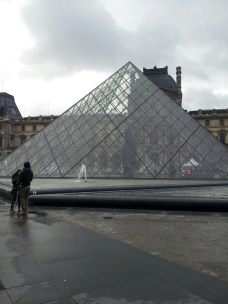 The Louvre pyramid, so untouristy of me