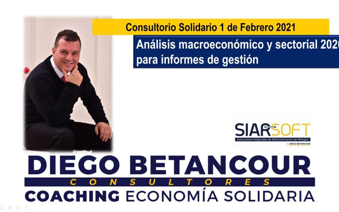 Consultorio Solidario | 1 de Febrero | Análisis macroeconómico y sectorial 2020 para informes de gestión