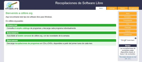 catalogo de software libre