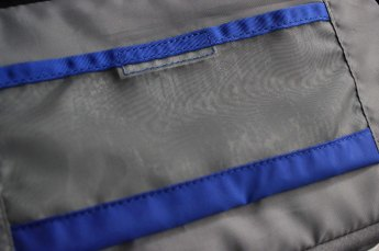 The mesh is flexible but keeps its form.
