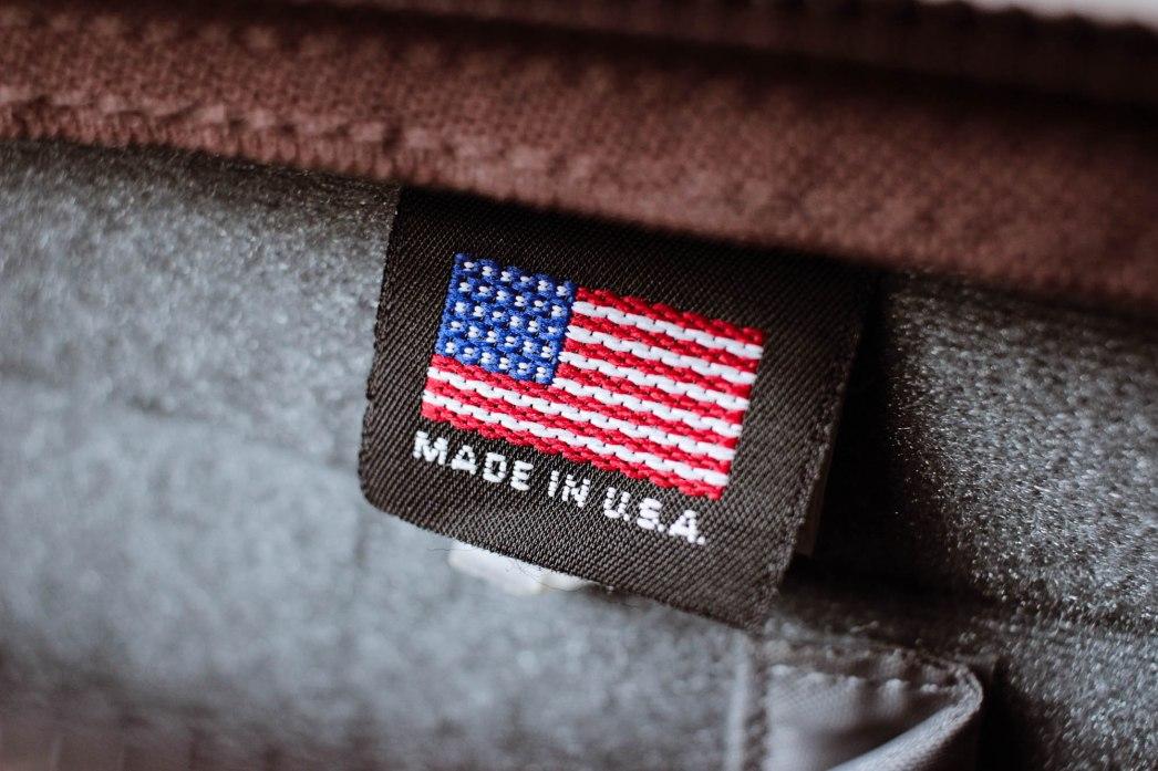 Made in the USA (aka: hopefully not a sweat shop).