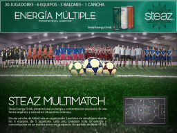 Multimatch - Steaz Energy Drink - To announce Steaz extra energy drink, we created a match with 6 teams at the same time.