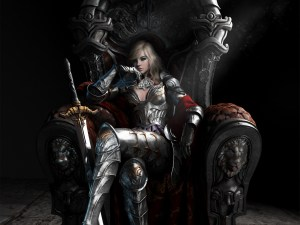 064221 armour fantasy artwork queen sword throne