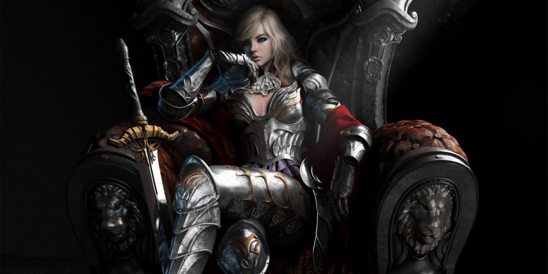 064221 armour fantasy artwork queen sword throne