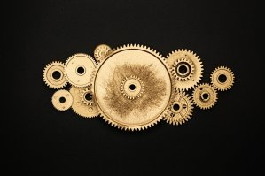 circle gear sprocket cooperation 4868498