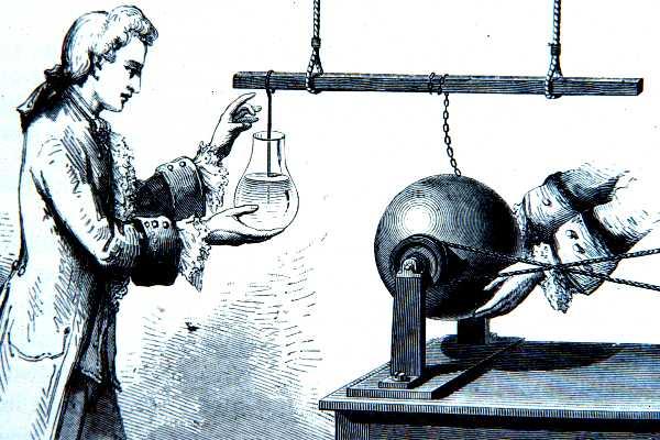 leidne jar woodcut