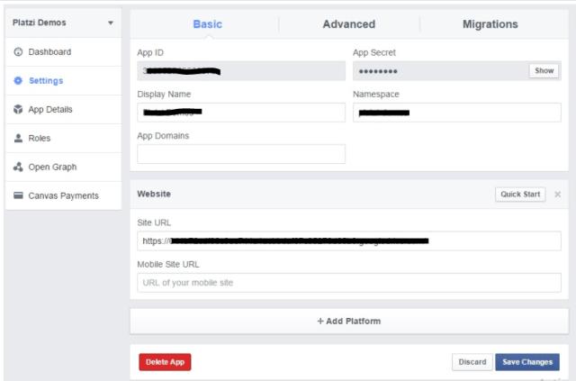 Configurar el boton de facebook login