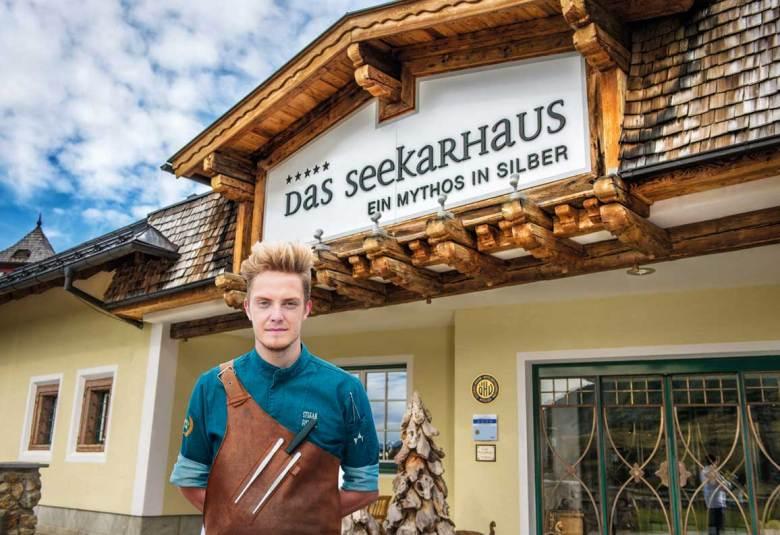 Stefan Fischer ist seit dem Winter 2019/20 Chef de Cuisine des mit zwei Gault-Millau-Hauben ausgezeichneten Fünf-Sterne-Hotels Das Seekarhaus in Obertauern.