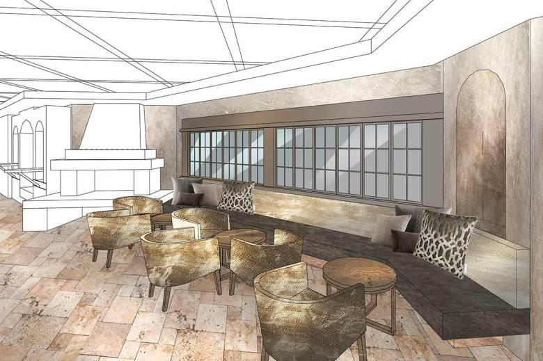 Ab November 2020 im neuen Design: Der Hotel Das Seekarhaus-Barbereich. Visualisierung: Seekarhaus