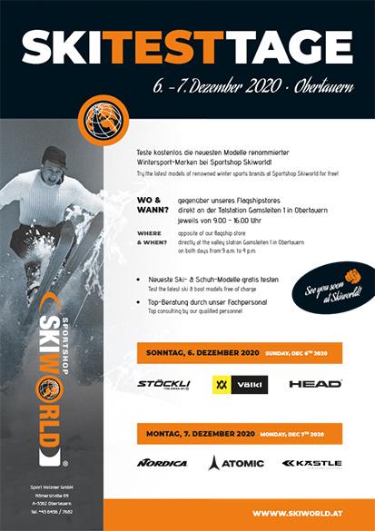 Skitesttage im Obertauern im Skiwinter 2020/21