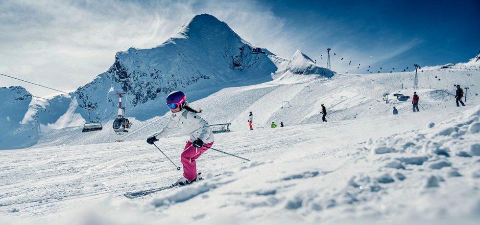 Das Kitzsteinhorn startet mit acht geöffneten Seilbahnen in den Skiwinter 2021/22. Foto: Kitzsteinhorn