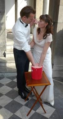 Brautpaar bei der Abformung