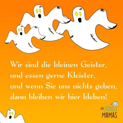Halloween Spruch Kleine Geister
