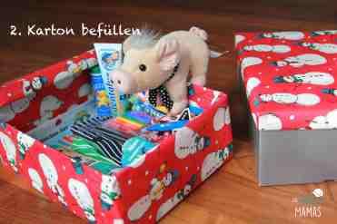 Weihnachtspäckchen Aktion_Geschenke befüllen