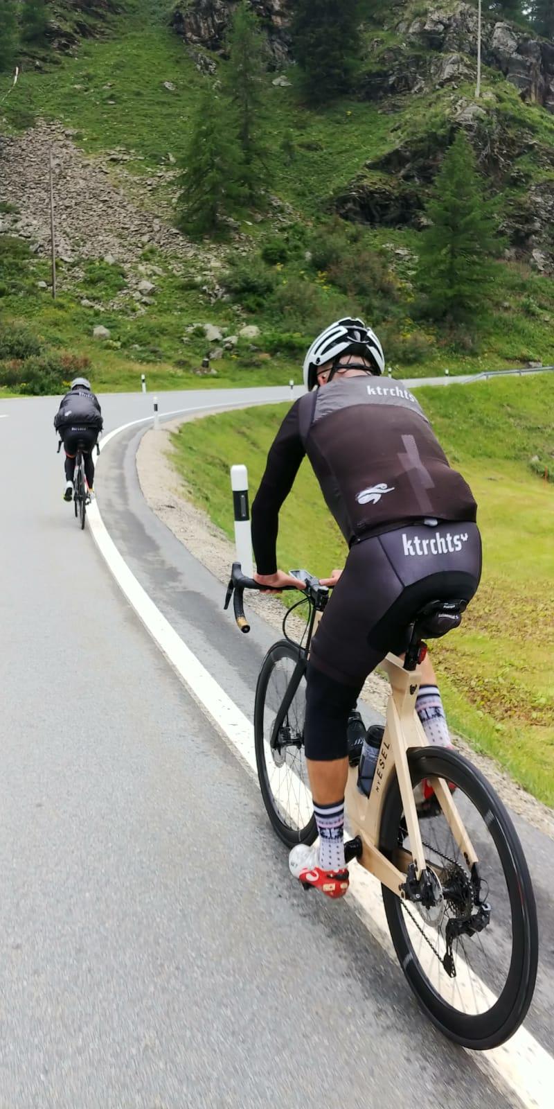 Mit dem Rennrad zum Passo Bernina