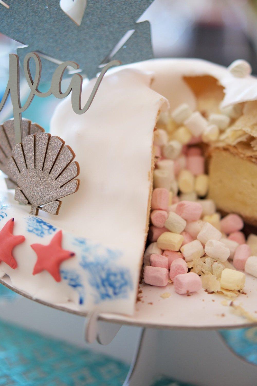 Meerjungfrau Torte meerjungfrau torte mit kastaniencreme
