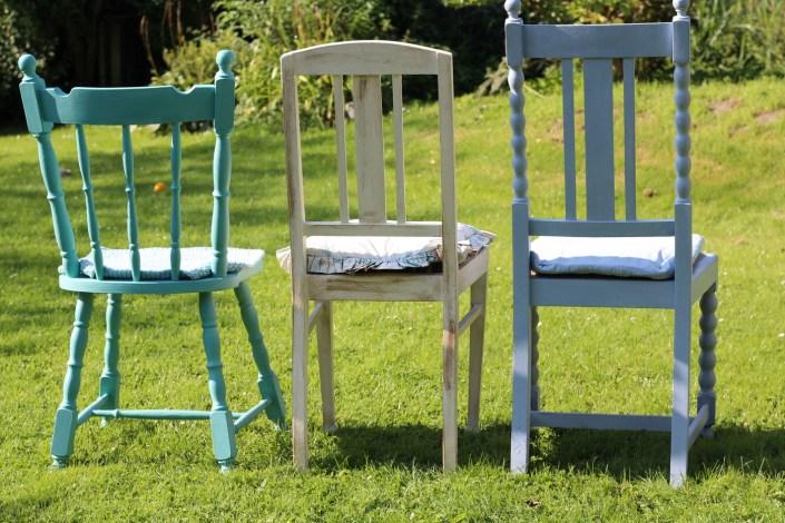Stühle von hinten